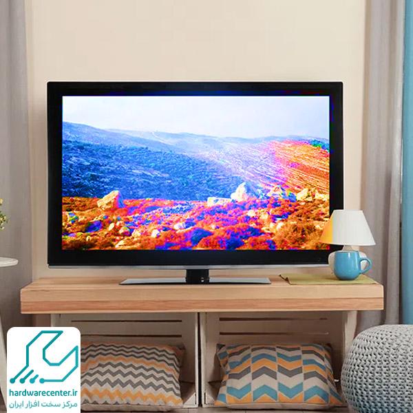 به هم ریختن رنگ تلویزیون